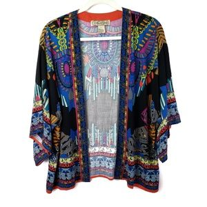 Flying Tomato Black Multicolor Duster Size Large